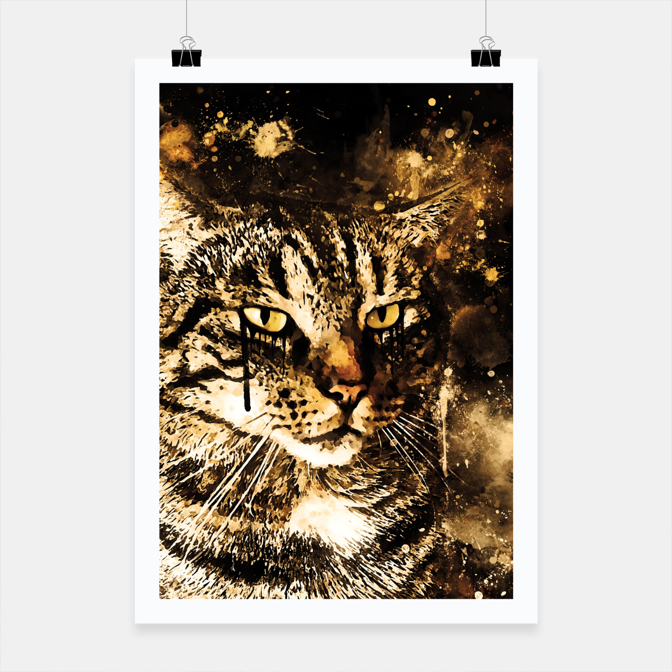 Image of koko the cat wssepia Poster - Live Heroes