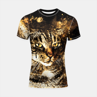 Thumbnail image of koko the cat wssepia Shortsleeve rashguard, Live Heroes