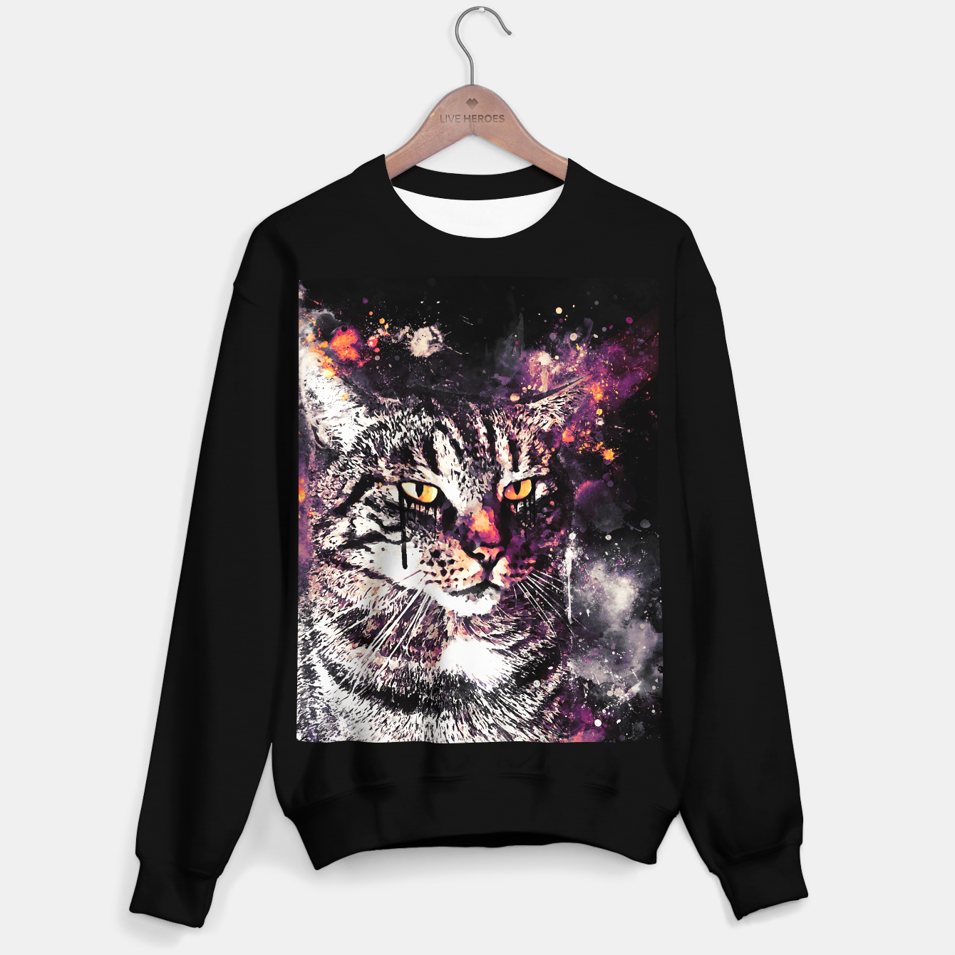 Image of koko the cat wslsh Sweater regular - Live Heroes