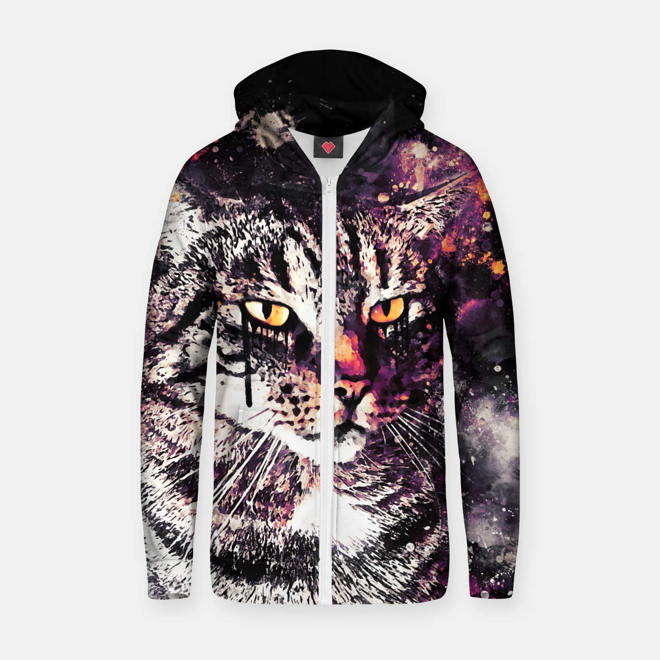 Image of koko the cat wslsh Zip up hoodie - Live Heroes