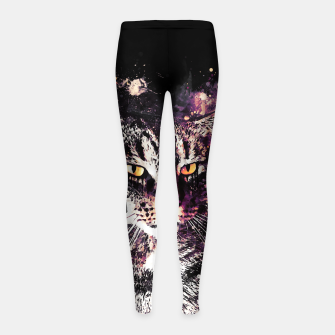 Miniature de image de koko the cat wslsh Girl's leggings, Live Heroes