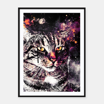 Thumbnail image of koko the cat wslsh Framed poster, Live Heroes