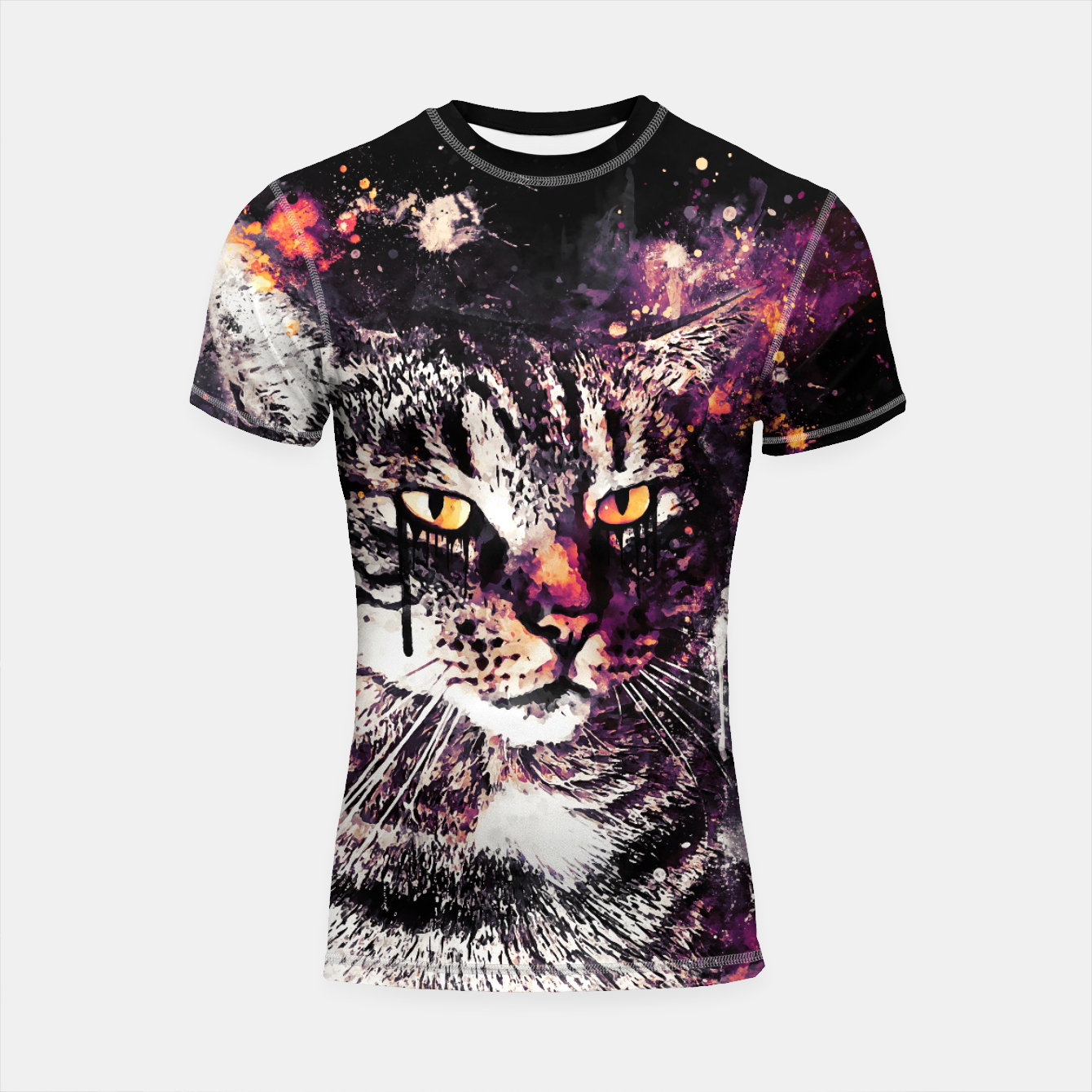 Image of koko the cat wslsh Shortsleeve rashguard - Live Heroes