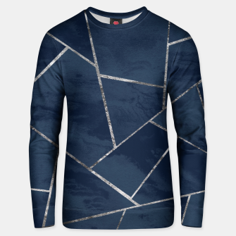 Miniaturka Midnight Navy Blue Ink Silver Geometric Glam #1 #geo #decor #art  Unisex sweatshirt, Live Heroes