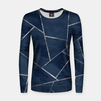 Miniaturka Midnight Navy Blue Ink Silver Geometric Glam #1 #geo #decor #art  Frauen sweatshirt, Live Heroes