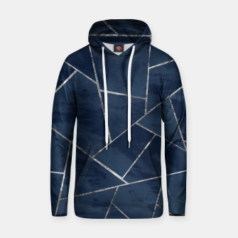 Thumbnail image of Midnight Navy Blue Ink Silver Geometric Glam #1 #geo #decor #art  Kapuzenpullover, Live Heroes