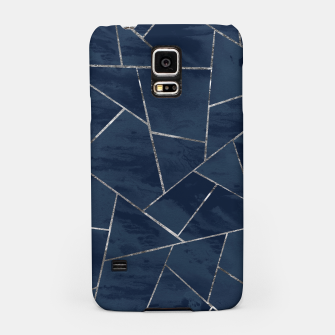 Miniaturka Midnight Navy Blue Ink Silver Geometric Glam #1 #geo #decor #art  Handyhülle für Samsung, Live Heroes