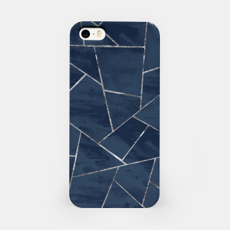 Thumbnail image of Midnight Navy Blue Ink Silver Geometric Glam #1 #geo #decor #art  iPhone-Hülle, Live Heroes