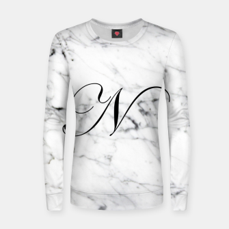 Miniatur Abstract natural marble texture and alphabet N Women sweater, Live Heroes