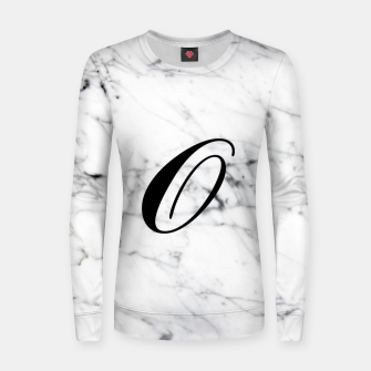 Miniatur Abstract natural marble texture and alphabet O Women sweater, Live Heroes