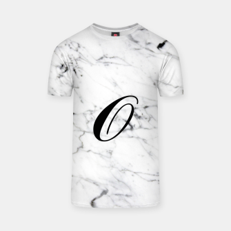 Miniaturka Abstract natural marble texture and alphabet O T-shirt, Live Heroes