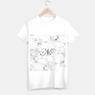 Thumbnail image of Abstract natural marble texture and alphabet N T-shirt regular, Live Heroes