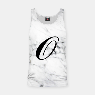 Thumbnail image of Abstract natural marble texture and alphabet O Tank Top, Live Heroes