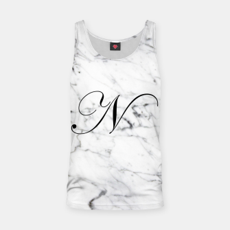 Thumbnail image of Abstract natural marble texture and alphabet N Tank Top, Live Heroes
