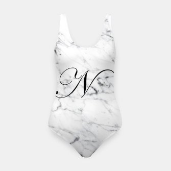 Miniature de image de Abstract natural marble texture and alphabet N Swimsuit, Live Heroes
