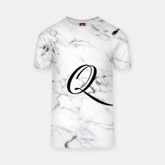 Miniaturka Abstract natural marble texture and alphabet Q T-shirt, Live Heroes