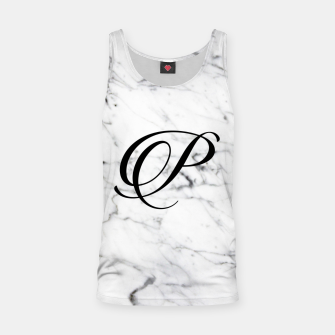 Miniature de image de Abstract natural marble texture and alphabet P Tank Top, Live Heroes