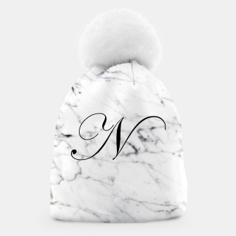 Miniature de image de Abstract natural marble texture and alphabet N Beanie, Live Heroes