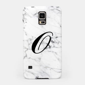 Thumbnail image of Abstract natural marble texture and alphabet O Samsung Case, Live Heroes