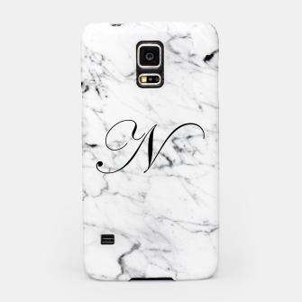 Thumbnail image of Abstract natural marble texture and alphabet N Samsung Case, Live Heroes
