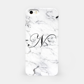 Thumbnail image of Abstract natural marble texture and alphabet N iPhone Case, Live Heroes