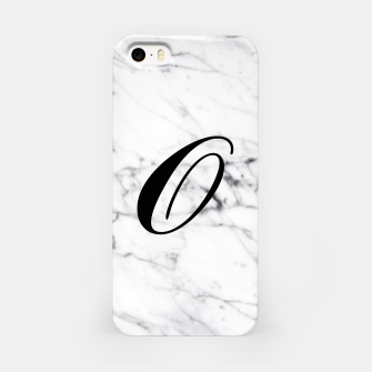 Imagen en miniatura de Abstract natural marble texture and alphabet O iPhone Case, Live Heroes