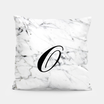 Miniaturka Abstract natural marble texture and alphabet O Pillow, Live Heroes