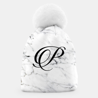 Miniature de image de Abstract natural marble texture and alphabet P Beanie, Live Heroes