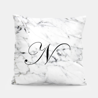 Miniaturka Abstract natural marble texture and alphabet N Pillow, Live Heroes