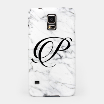 Thumbnail image of Abstract natural marble texture and alphabet P Samsung Case, Live Heroes