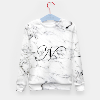 Thumbnail image of Abstract natural marble texture and alphabet N Kid's sweater, Live Heroes