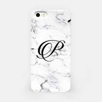 Imagen en miniatura de Abstract natural marble texture and alphabet P iPhone Case, Live Heroes