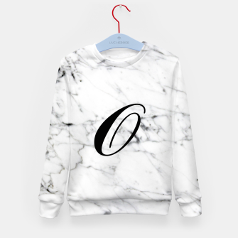 Thumbnail image of Abstract natural marble texture and alphabet O Kid's sweater, Live Heroes