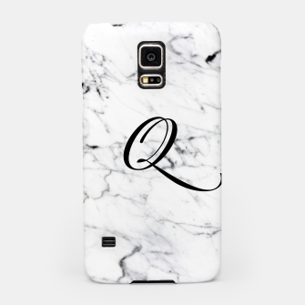 Thumbnail image of Abstract natural marble texture and alphabet Q Samsung Case, Live Heroes
