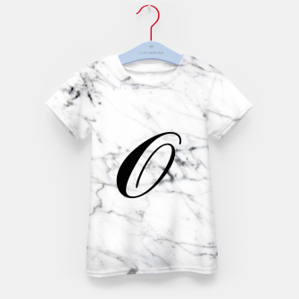 Miniatur Abstract natural marble texture and alphabet O Kid's t-shirt, Live Heroes
