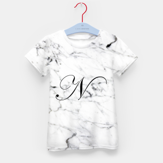 Miniatur Abstract natural marble texture and alphabet N Kid's t-shirt, Live Heroes