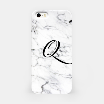Thumbnail image of Abstract natural marble texture and alphabet Q iPhone Case, Live Heroes