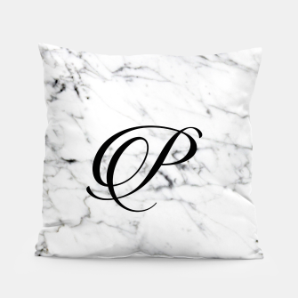 Miniaturka Abstract natural marble texture and alphabet P Pillow, Live Heroes