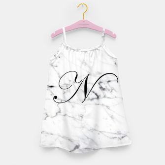 Miniature de image de Abstract natural marble texture and alphabet N Girl's dress, Live Heroes