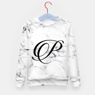 Thumbnail image of Abstract natural marble texture and alphabet P Kid's sweater, Live Heroes