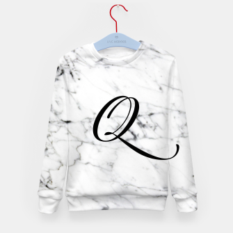 Thumbnail image of Abstract natural marble texture and alphabet Q Kid's sweater, Live Heroes