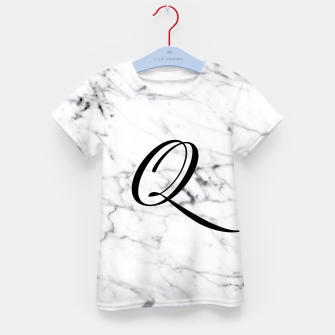 Miniaturka Abstract natural marble texture and alphabet Q Kid's t-shirt, Live Heroes