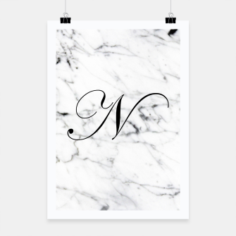Miniature de image de Abstract natural marble texture and alphabet N Poster, Live Heroes