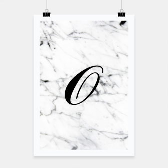 Miniature de image de Abstract natural marble texture and alphabet O Poster, Live Heroes