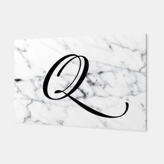 Miniatur Abstract natural marble texture and alphabet Q Canvas, Live Heroes