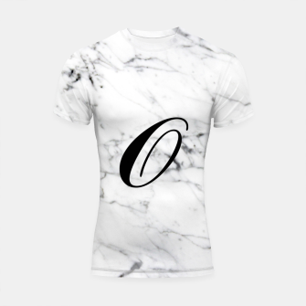 Miniature de image de Abstract natural marble texture and alphabet O Shortsleeve rashguard, Live Heroes