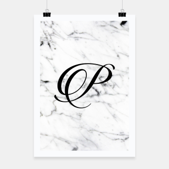 Miniature de image de Abstract natural marble texture and alphabet P Poster, Live Heroes