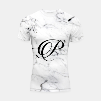 Miniature de image de Abstract natural marble texture and alphabet P Shortsleeve rashguard, Live Heroes