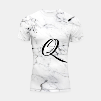 Miniature de image de Abstract natural marble texture and alphabet Q Shortsleeve rashguard, Live Heroes
