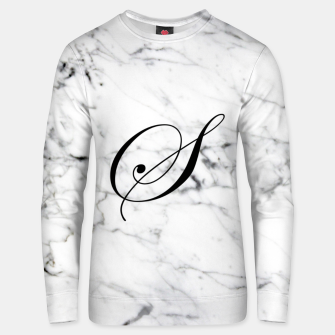 Miniature de image de Abstract natural marble texture and alphabet S Unisex sweater, Live Heroes